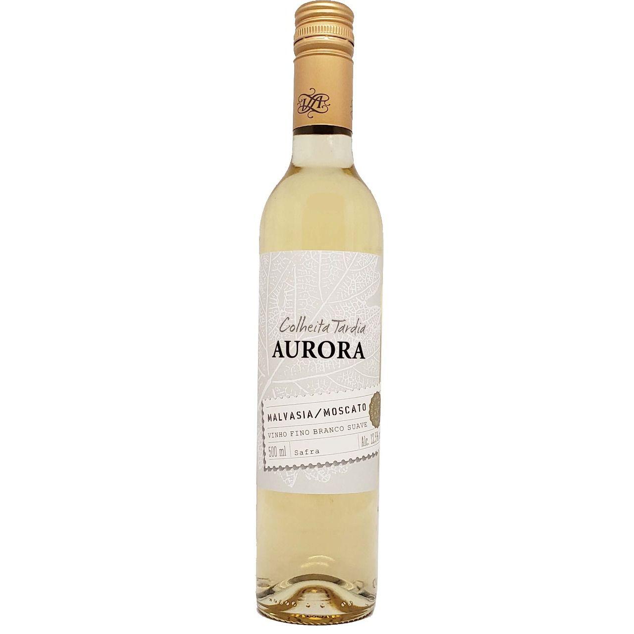 Vinho Branco Colheita Tardia Malvasia Moscato Aurora - 500ml -