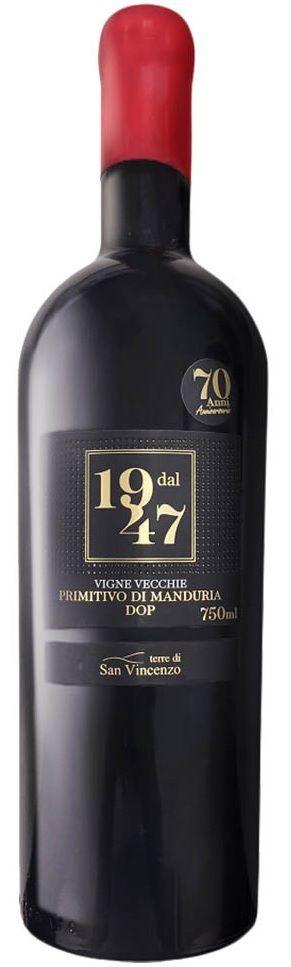 Vinho Tinto Dal 1947 Primitivo Di Manduria DOP - 750ml -