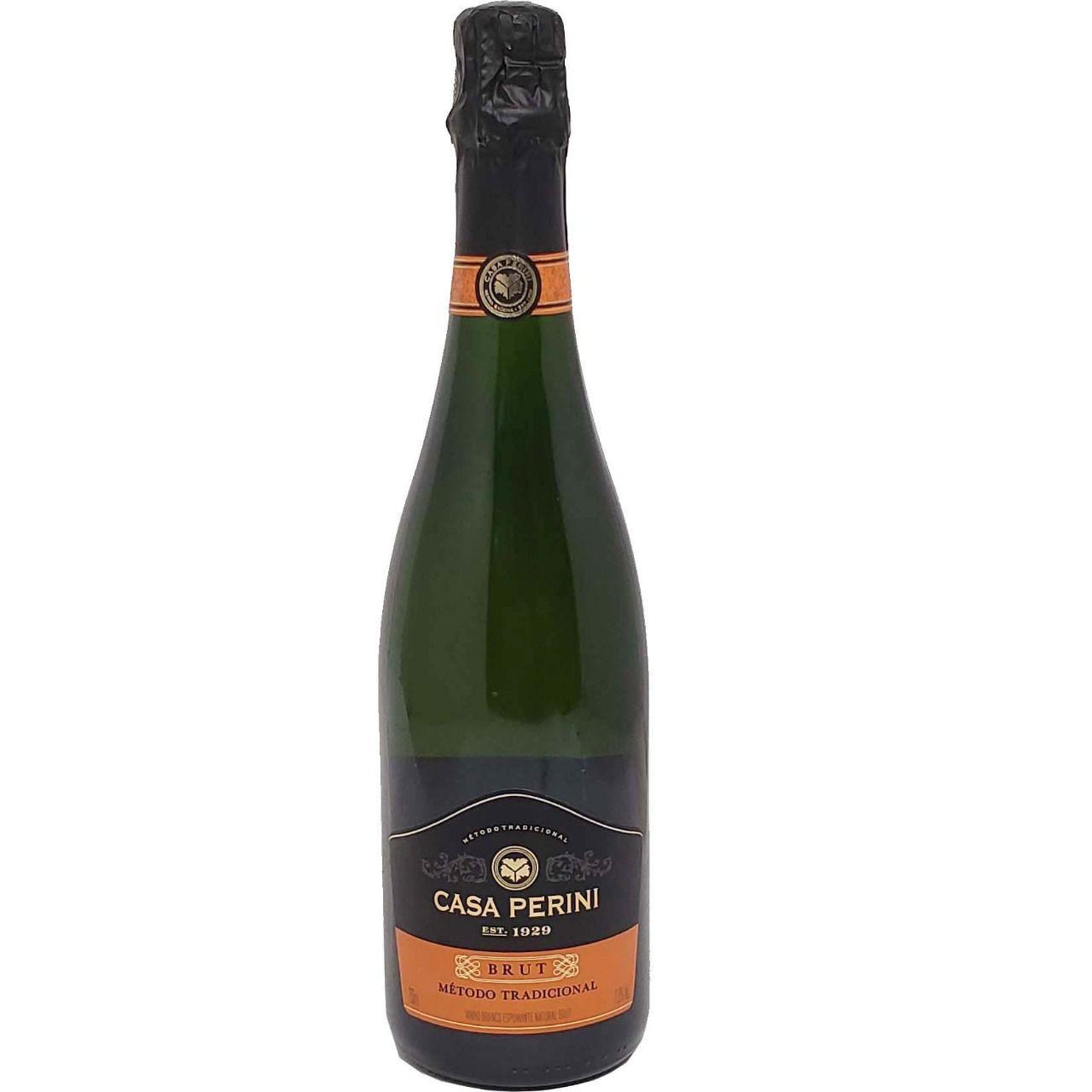 Vinho Espumante Branco Brut Método Tradicional Casa Perini - 750ml -