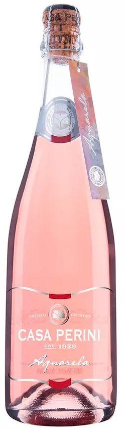 Vinho Espumante Rosado Moscatel Casa Perini Aquarela - 750ml -