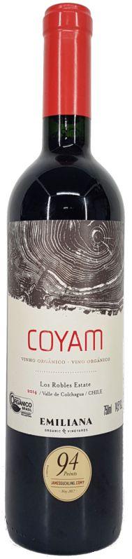 Vinho Tinto Orgânico Coyam Los Robles Estate Emiliana - 750ml -
