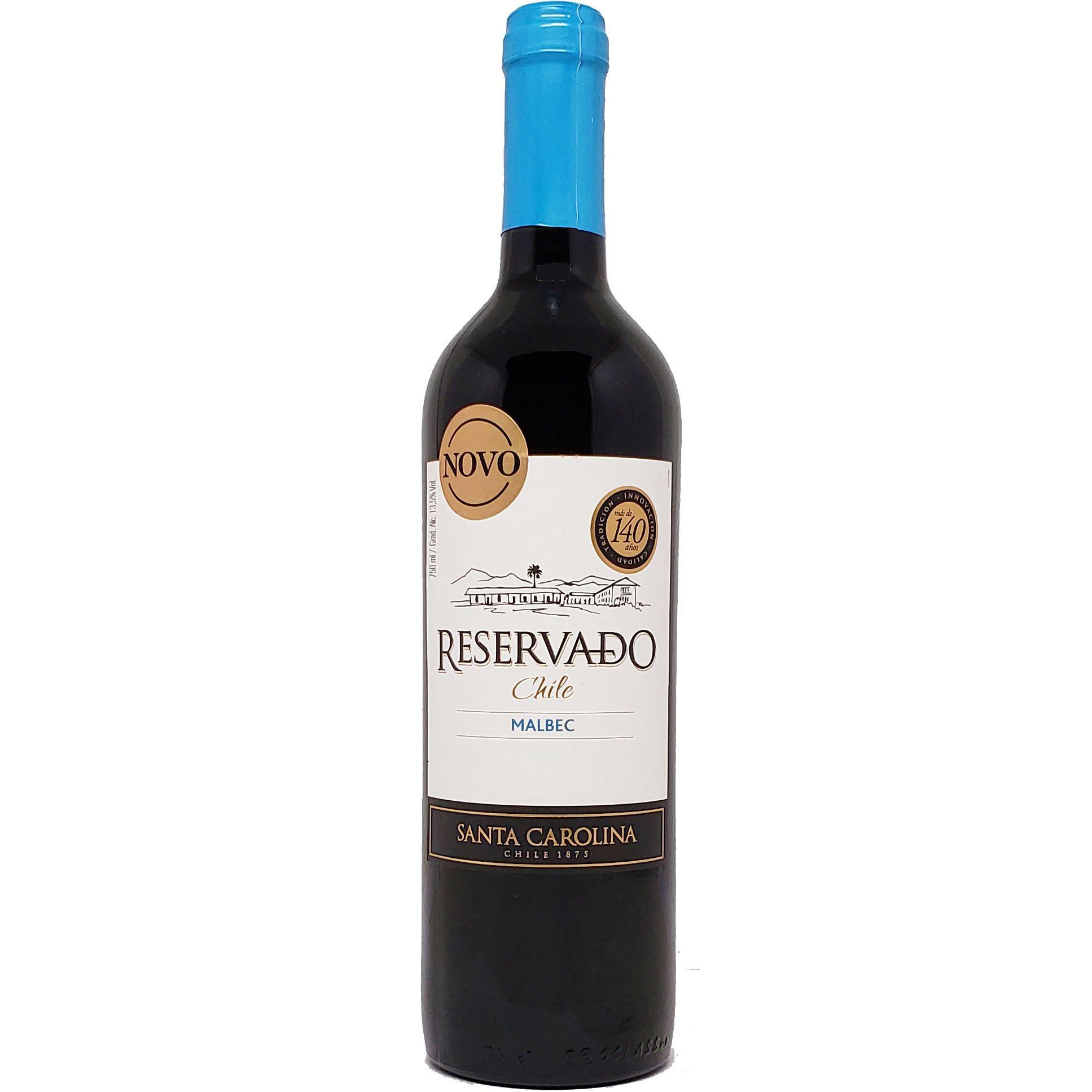 Vinho Santa Carolina Reservado Malbec Chile - 750ml -