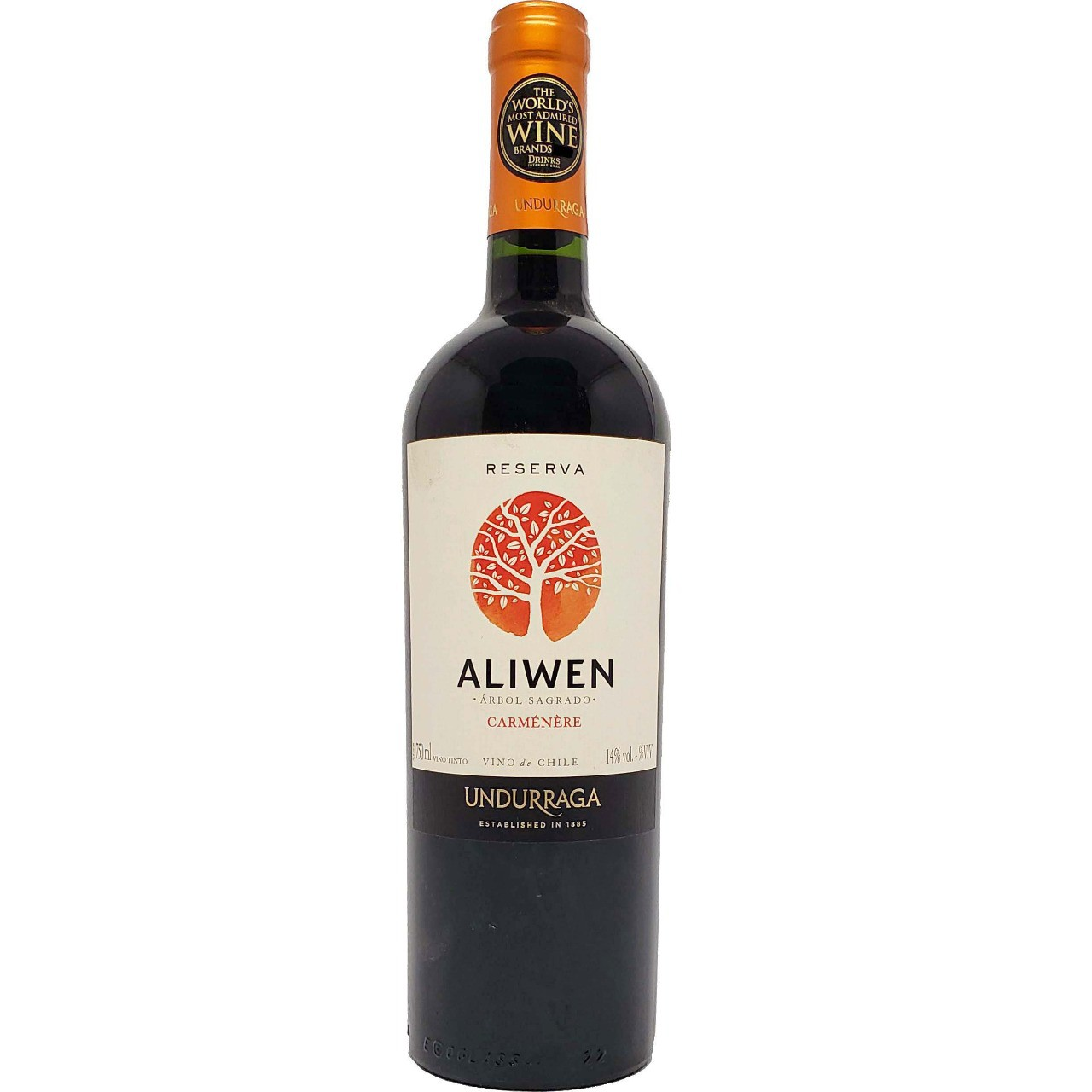 Vinho Tinto Aliwen Reserva Carménère Undurraga  - 750ml -