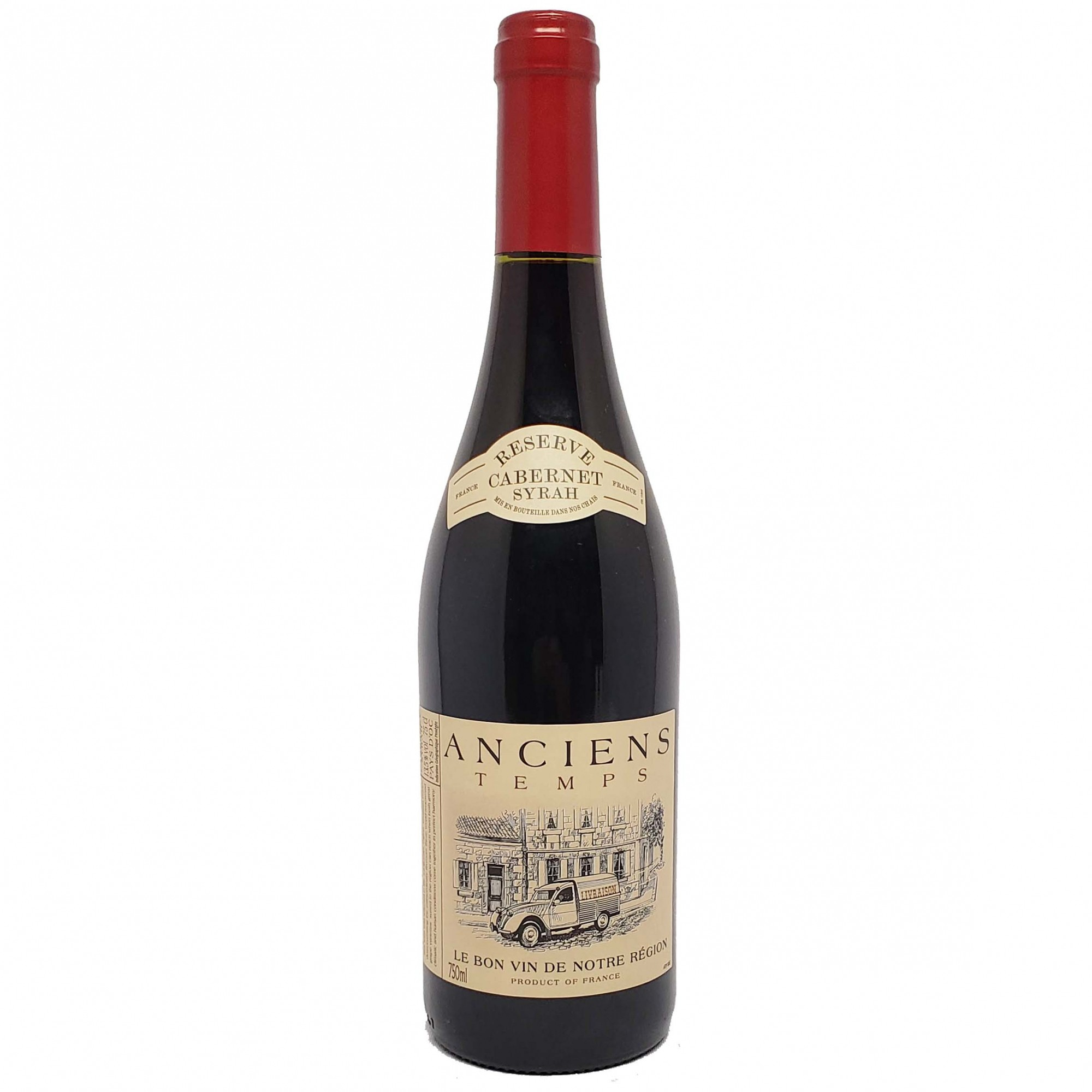 Vinho Tinto Anciens Temps Cabernet-Syrah - 750ml -