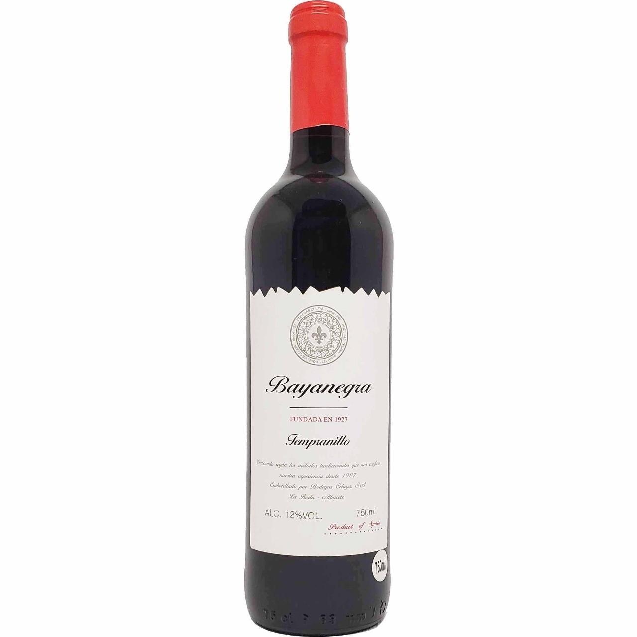Vinho Tinto Bayanegra Tempranillo - 750ml -