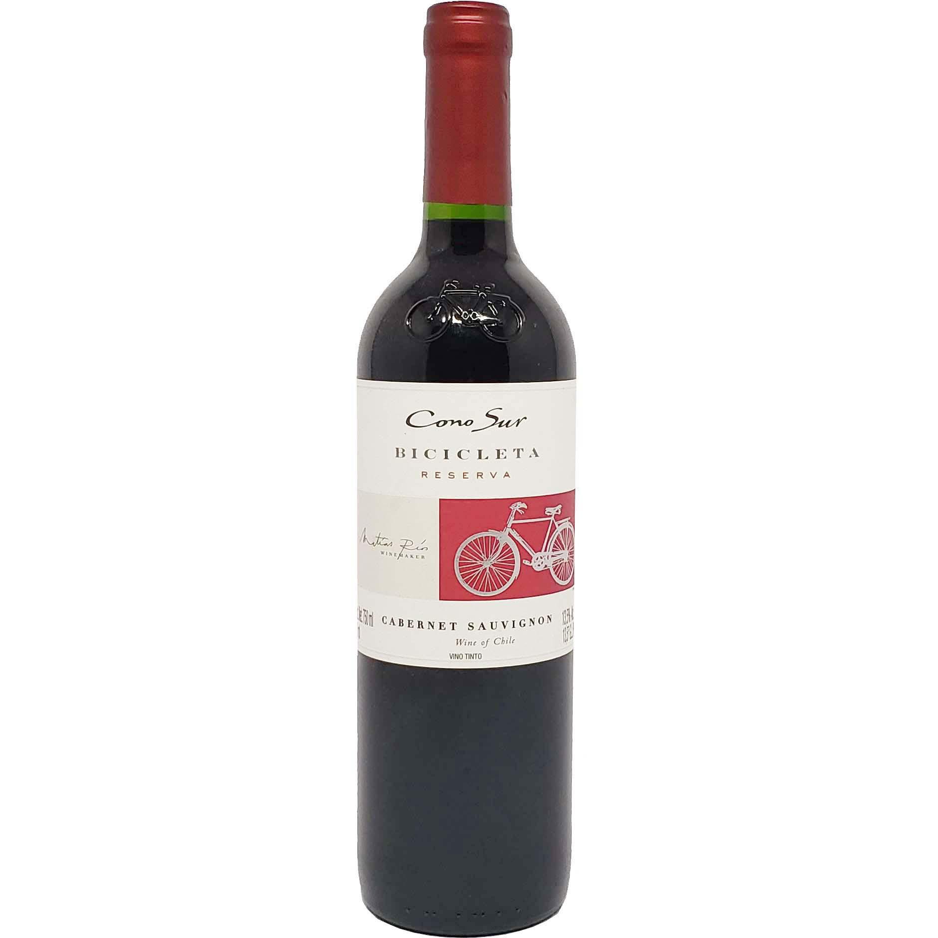 Vinho Tinto Bicicleta Cono Sur Reserva Cabernet Sauvignon - 750ml -