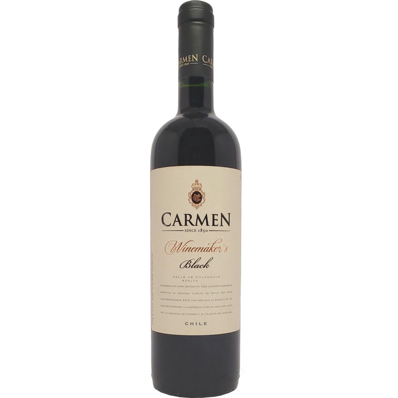 Vinho Tinto Carmen Winemaker's Black - 750ml -