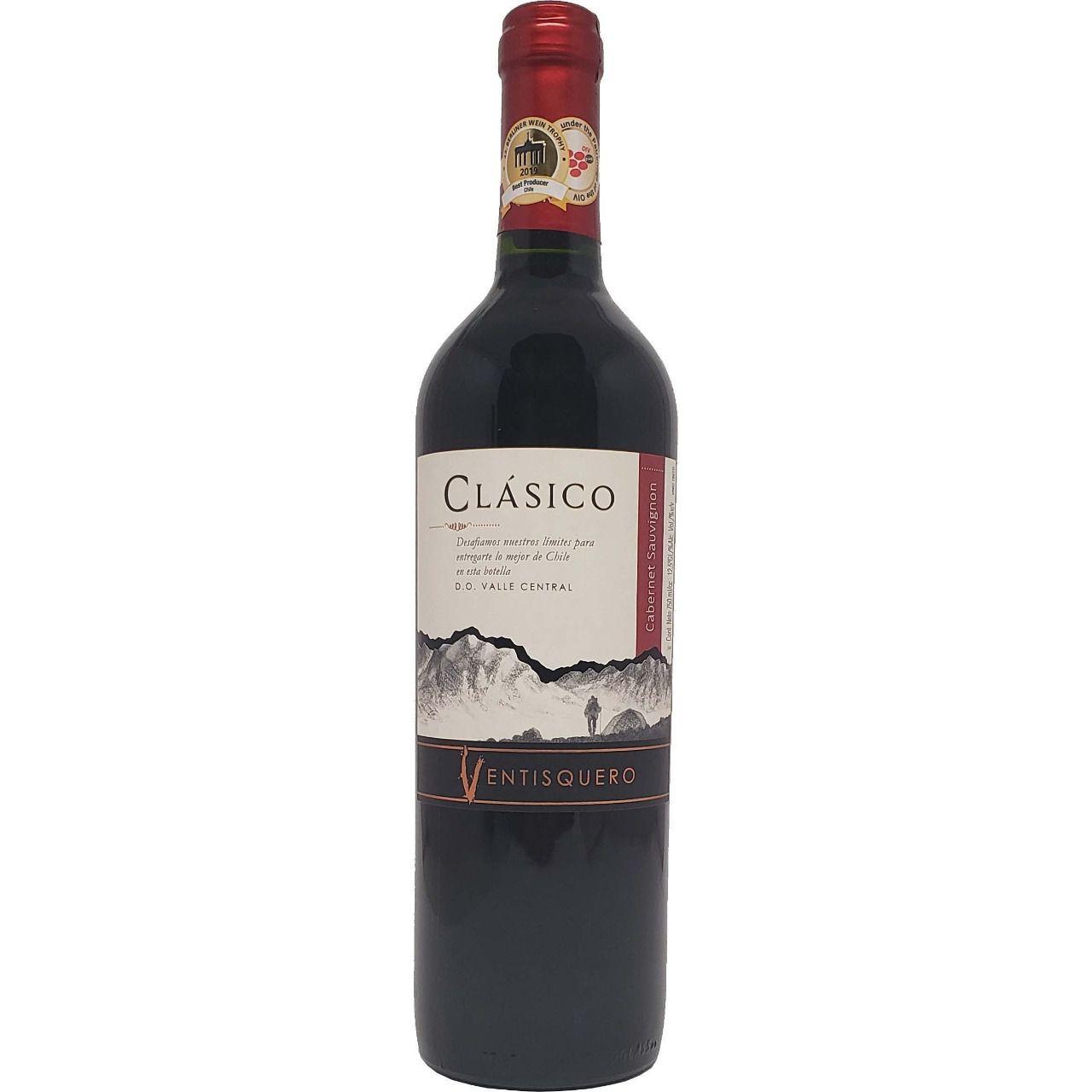 Vinho Tinto Clásico Ventisquero Cabernet Sauvignon - 750ml -