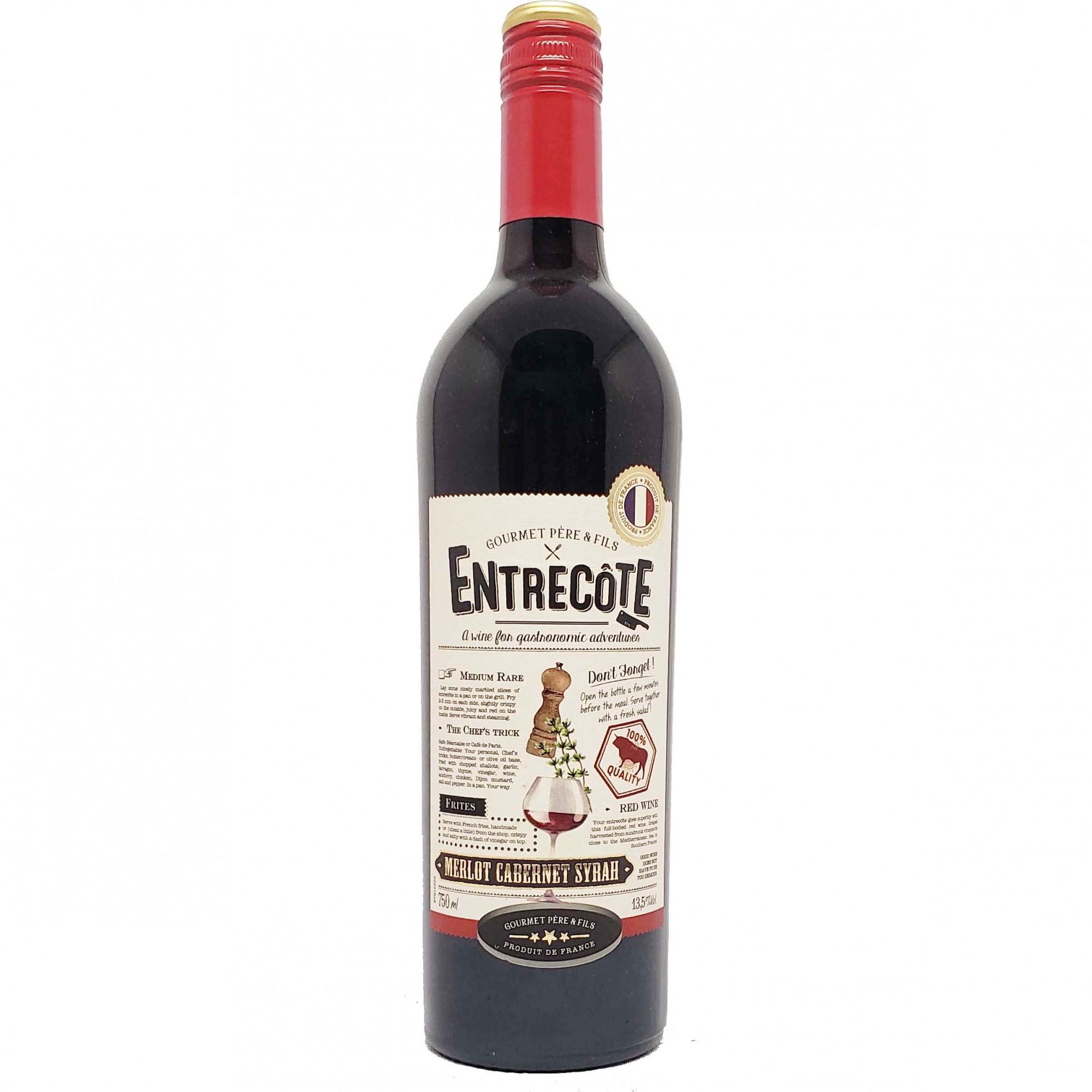 Vinho Tinto Entrecôte Merlot Cabernet Syrah - 750ml -