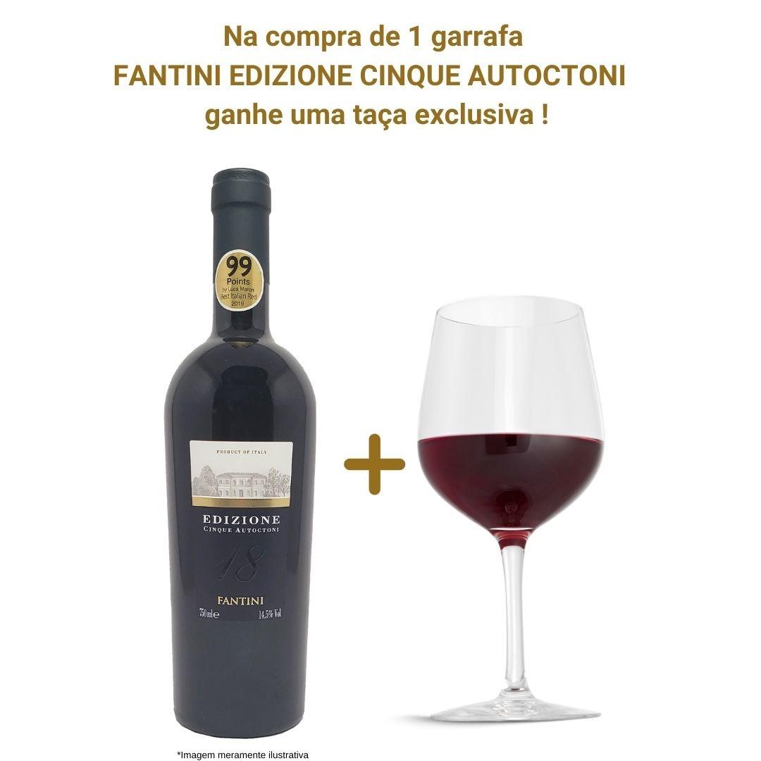 Vinho Tinto Fantini Edizione Cinque Autoctoni - 750ml + 1 Taça Exclusiva