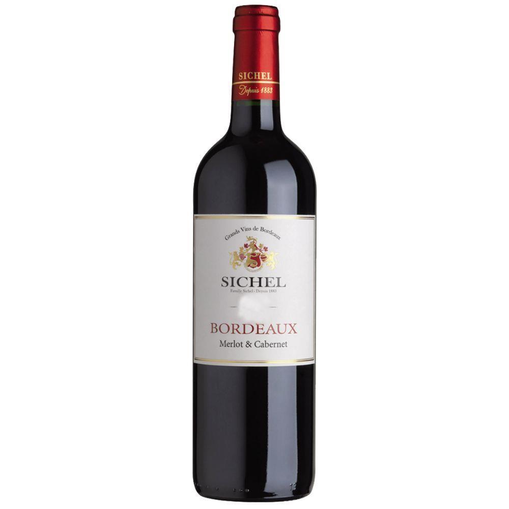 Vinho Tinto Francês Bordeaux Sichel Merlot & Cabernet  750ml
