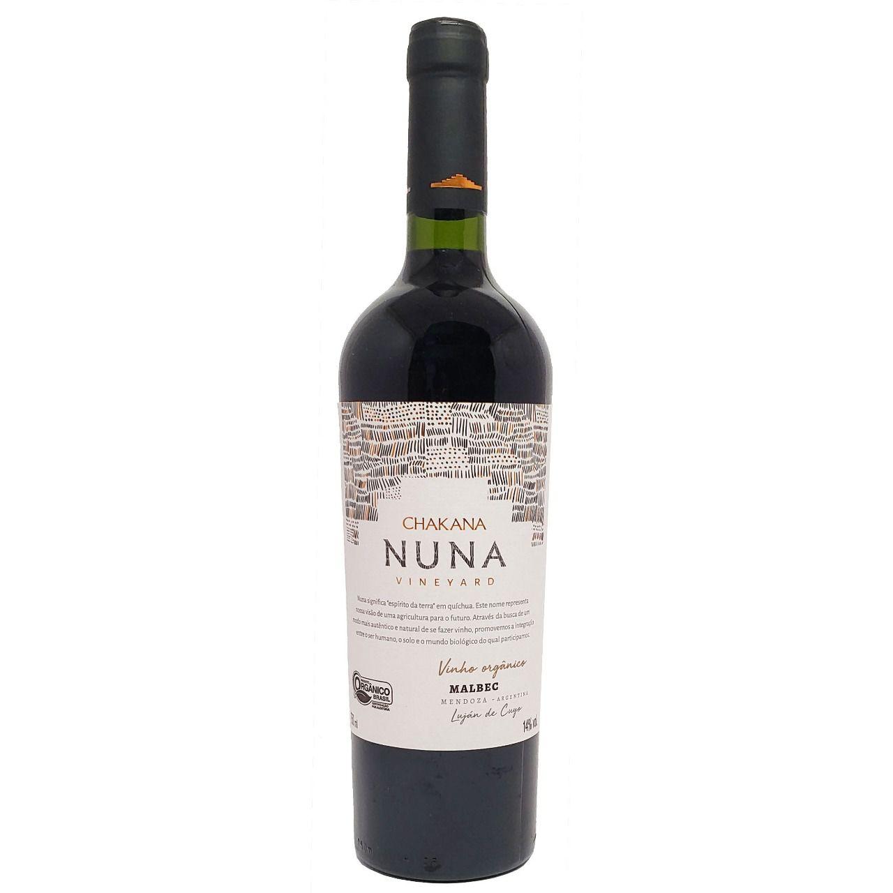 Vinho Tinto Orgânico Chakana Nuna Vineyard Malbec - 750ml -