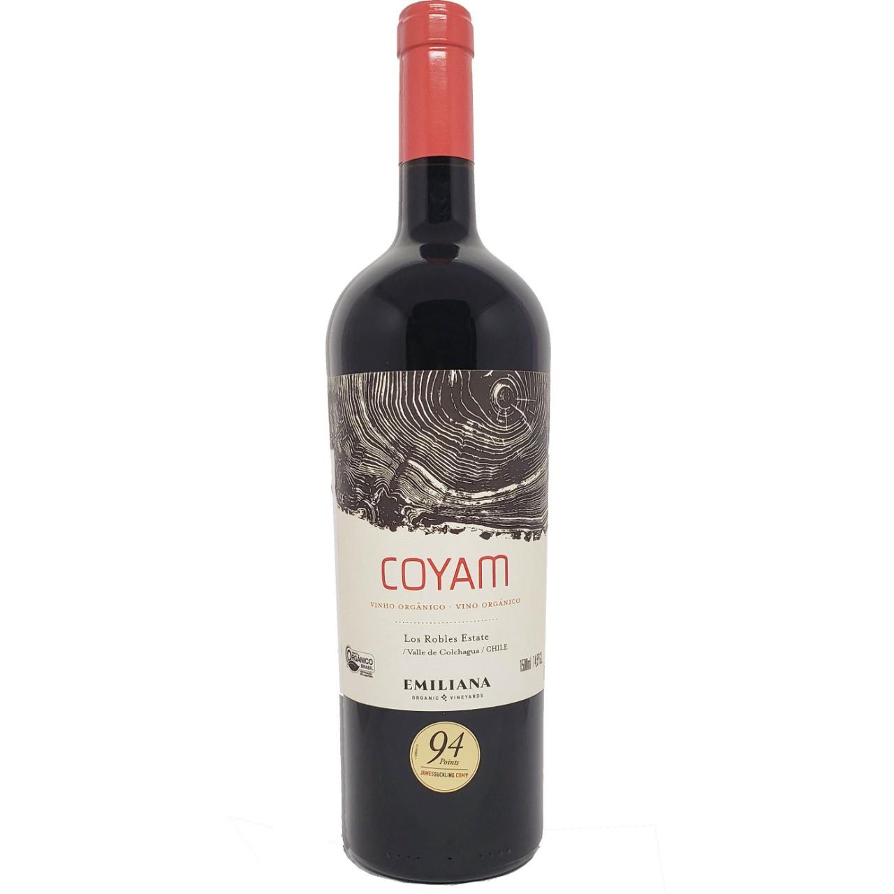 Vinho Tinto Orgânico Coyam Los Robles Estate Emiliana - 1,5L -