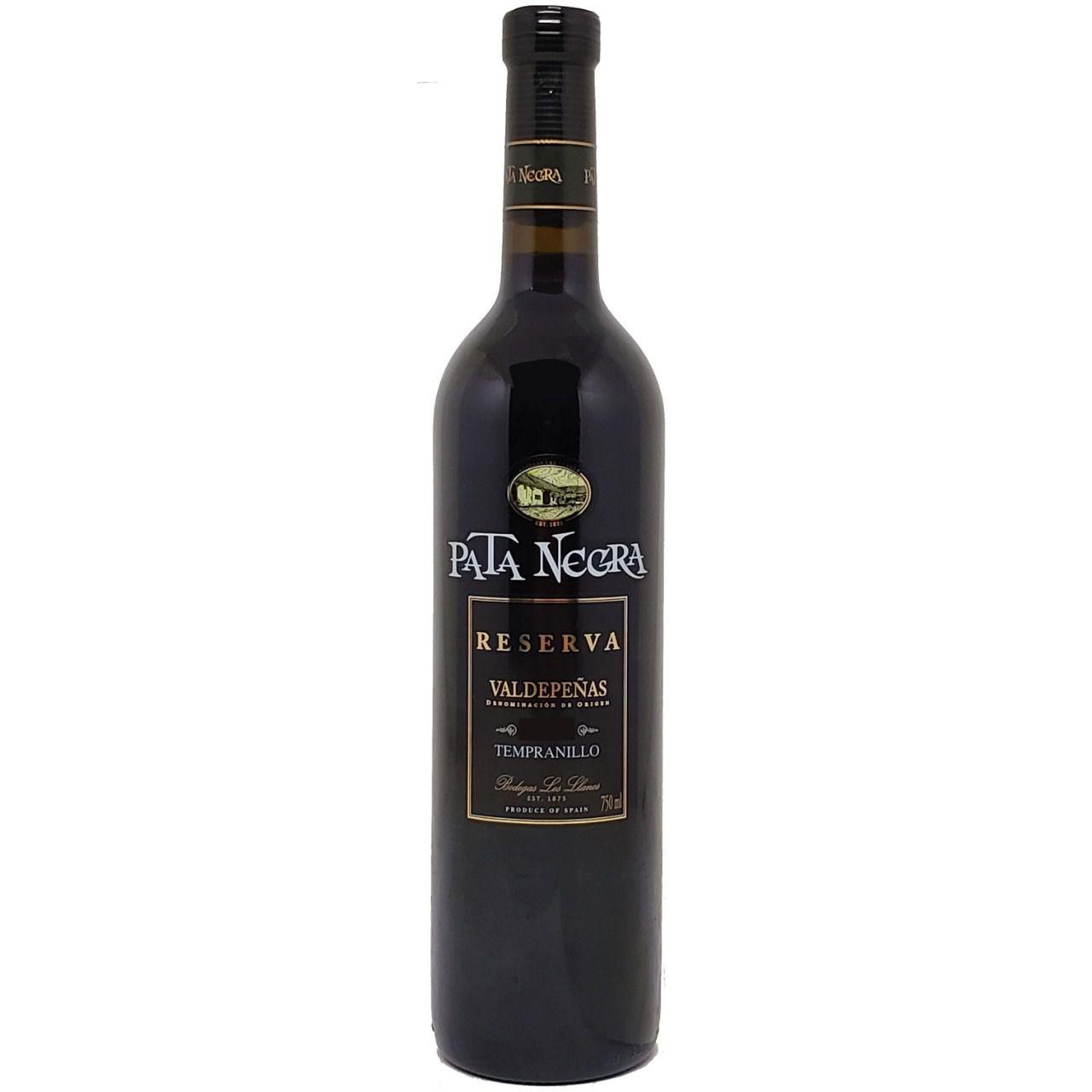 Vinho Tinto Pata Negra Tempranillo Reserva Valdepeñas - 750ml -