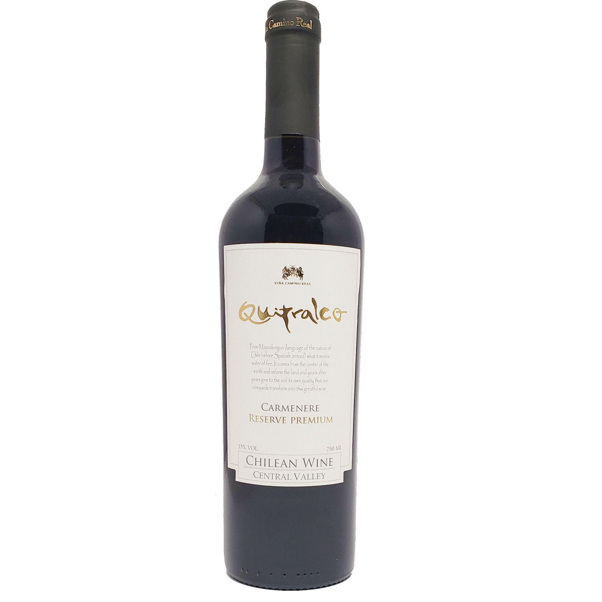 Vinho Tinto Quitralco Reserva Premium Carménère - 750ml -