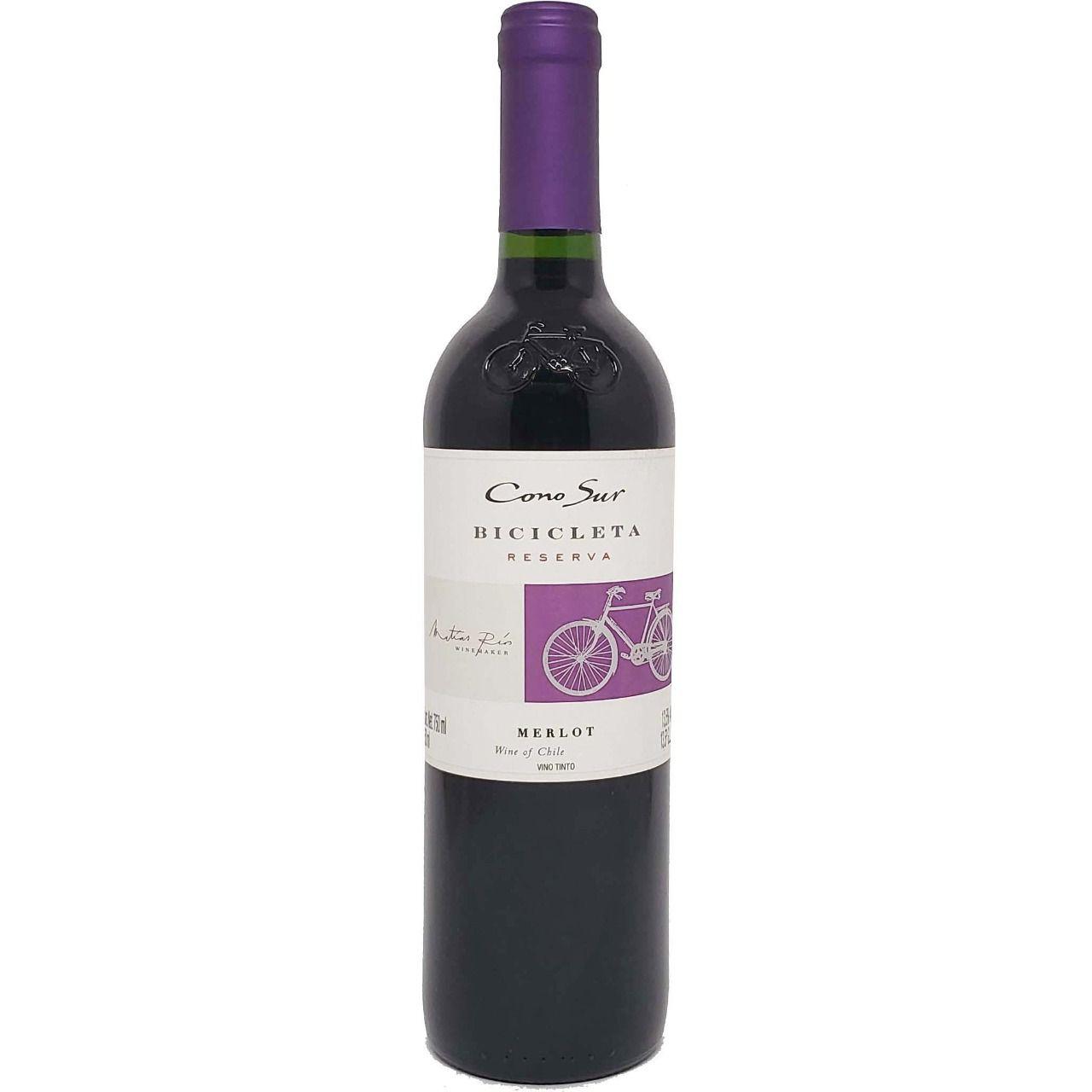 Vinho Tinto Reserva Bicicleta Cono Sur Merlot - 750ml -