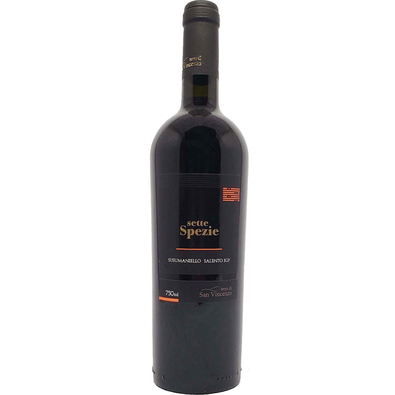 Vinho Tinto Sette Spezie Susumaniello Salento IGP - 750ml -