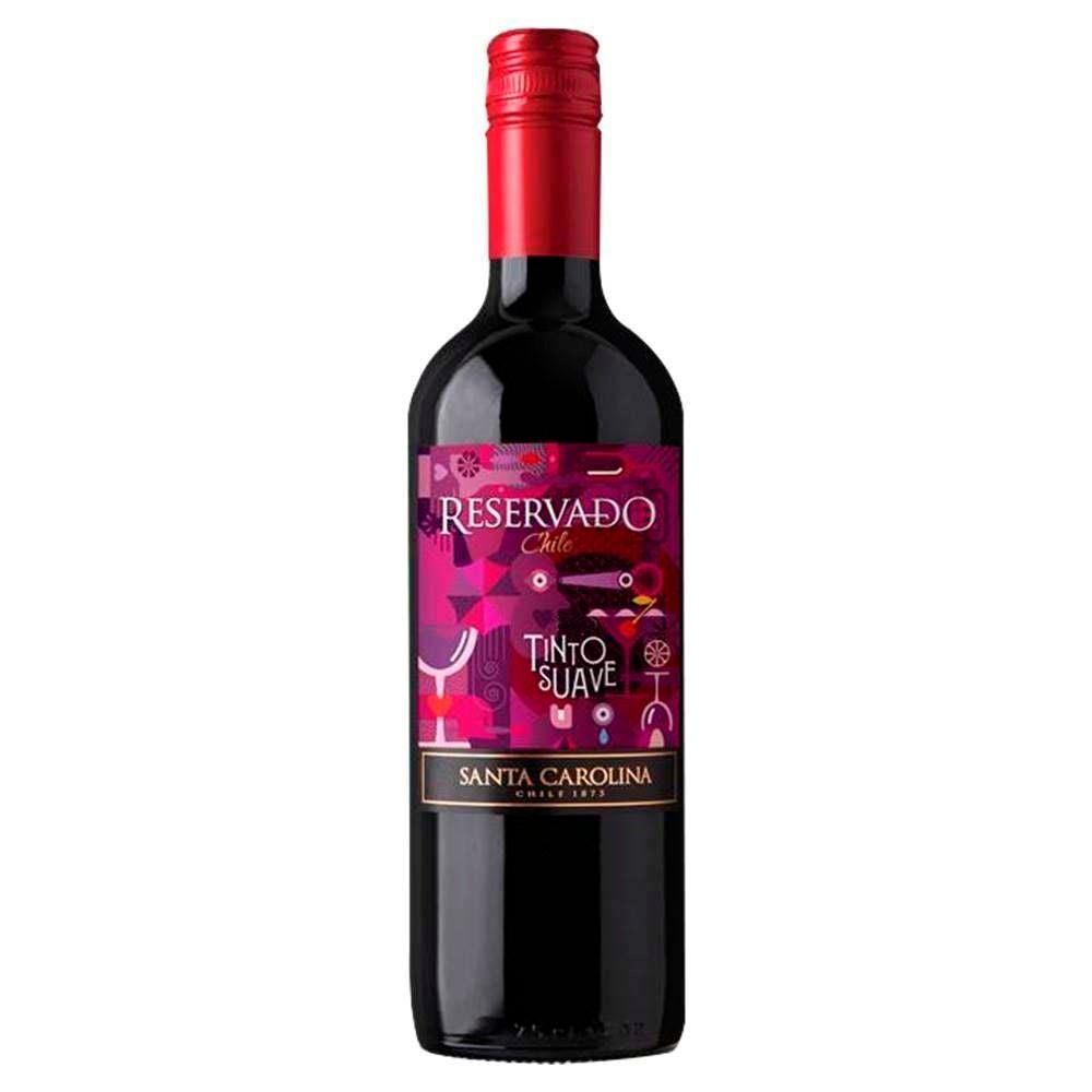 Vinho Tinto Suave Reservado Santa Carolina - 750ml -
