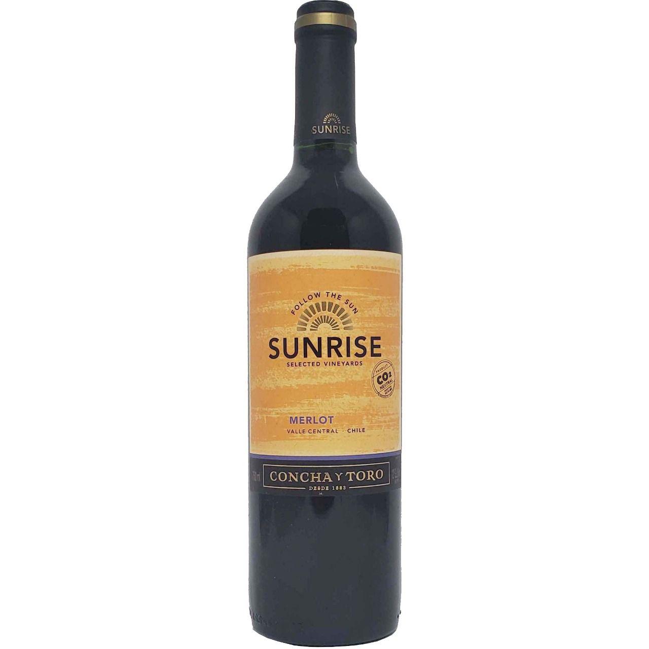 Vinho Tinto Sunrise Selected Vineyards Concha y Toro Merlot  - 750ml -