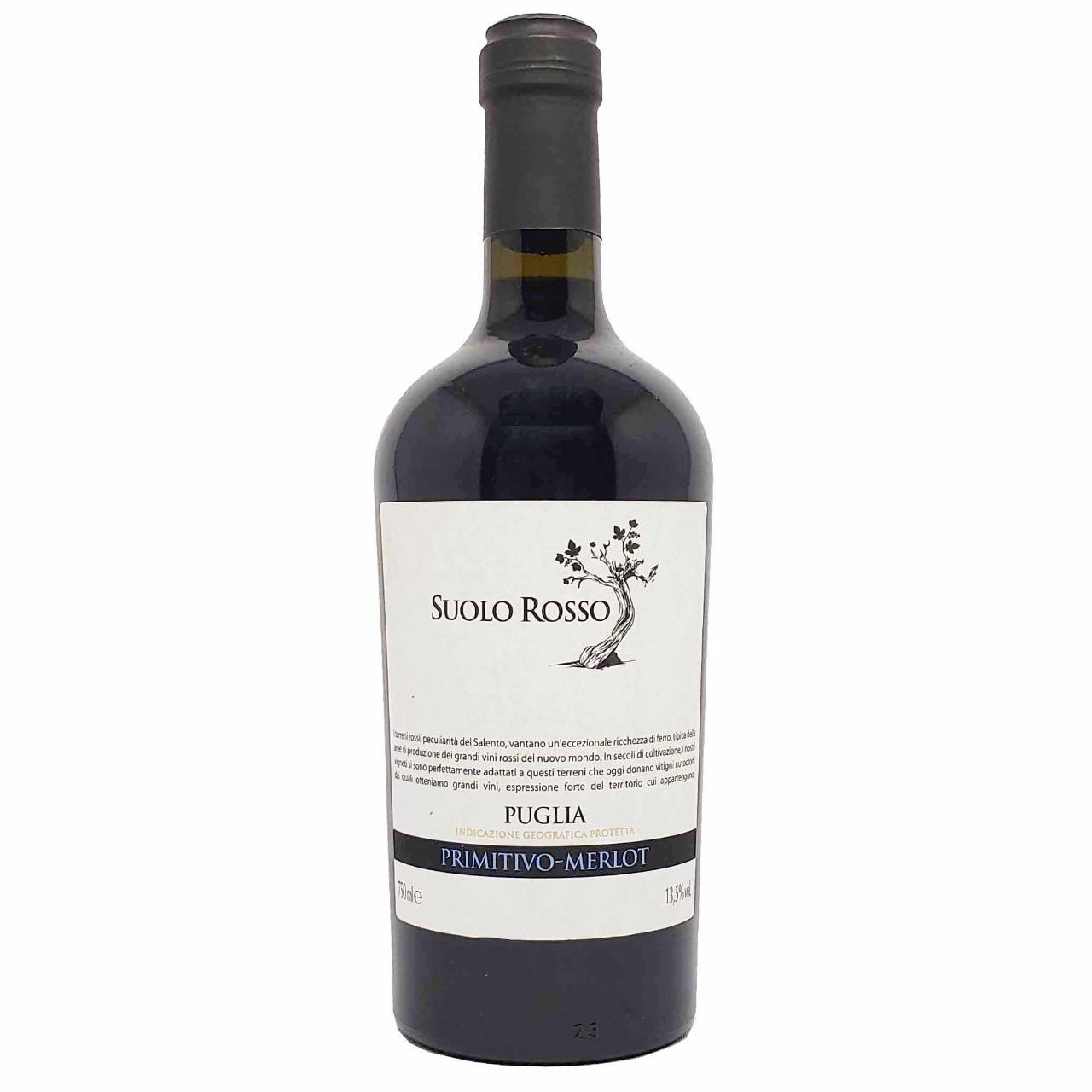 Vinho Tinto Suolo Rosso Primitivo Merlot  - 750ml -
