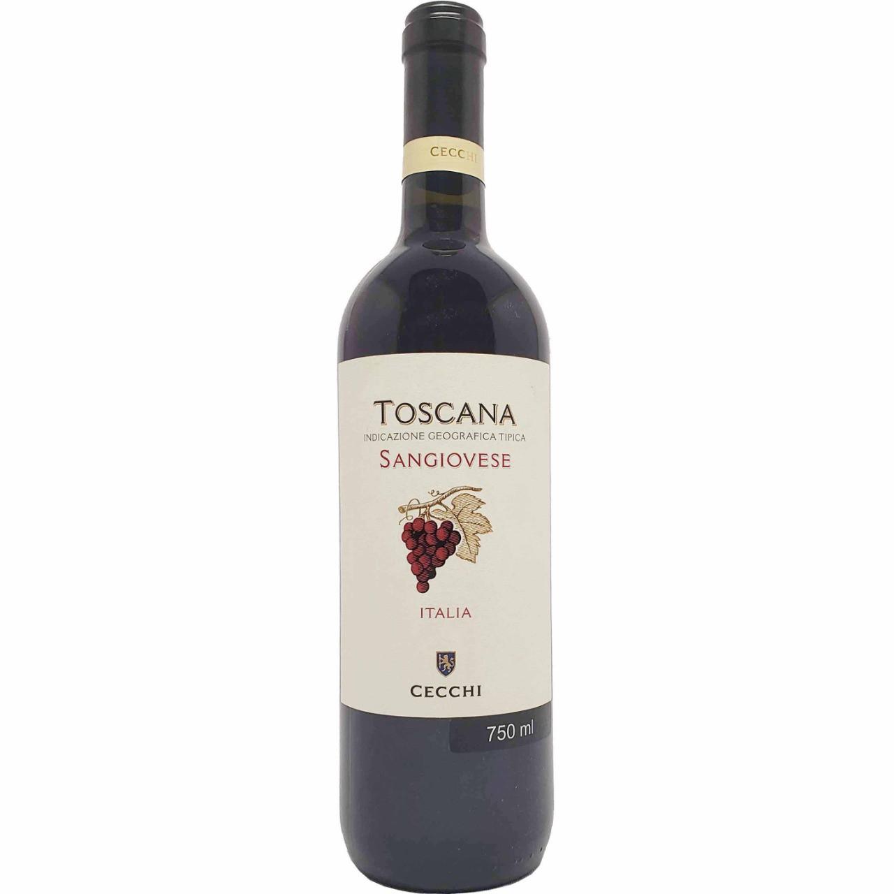Vinho Tinto Toscana Sangiovese Cecchi - 750ml -