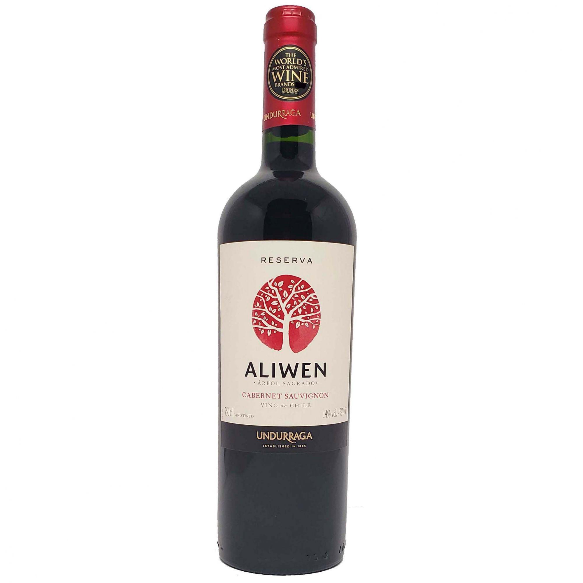 Vinho Tinto Aliwen Reserva Cabernet Sauvignon Undurraga  - 750ml -