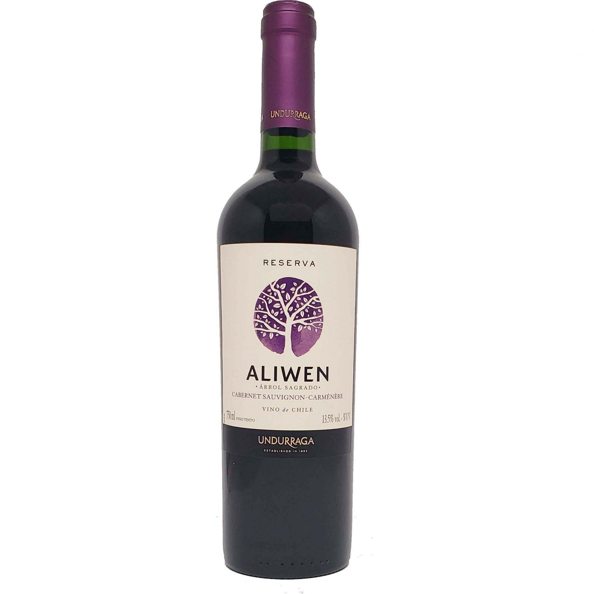 Vinho Tinto Aliwen Reserva Cabernet Sauvignon-Carménère Undurraga - 750ml -