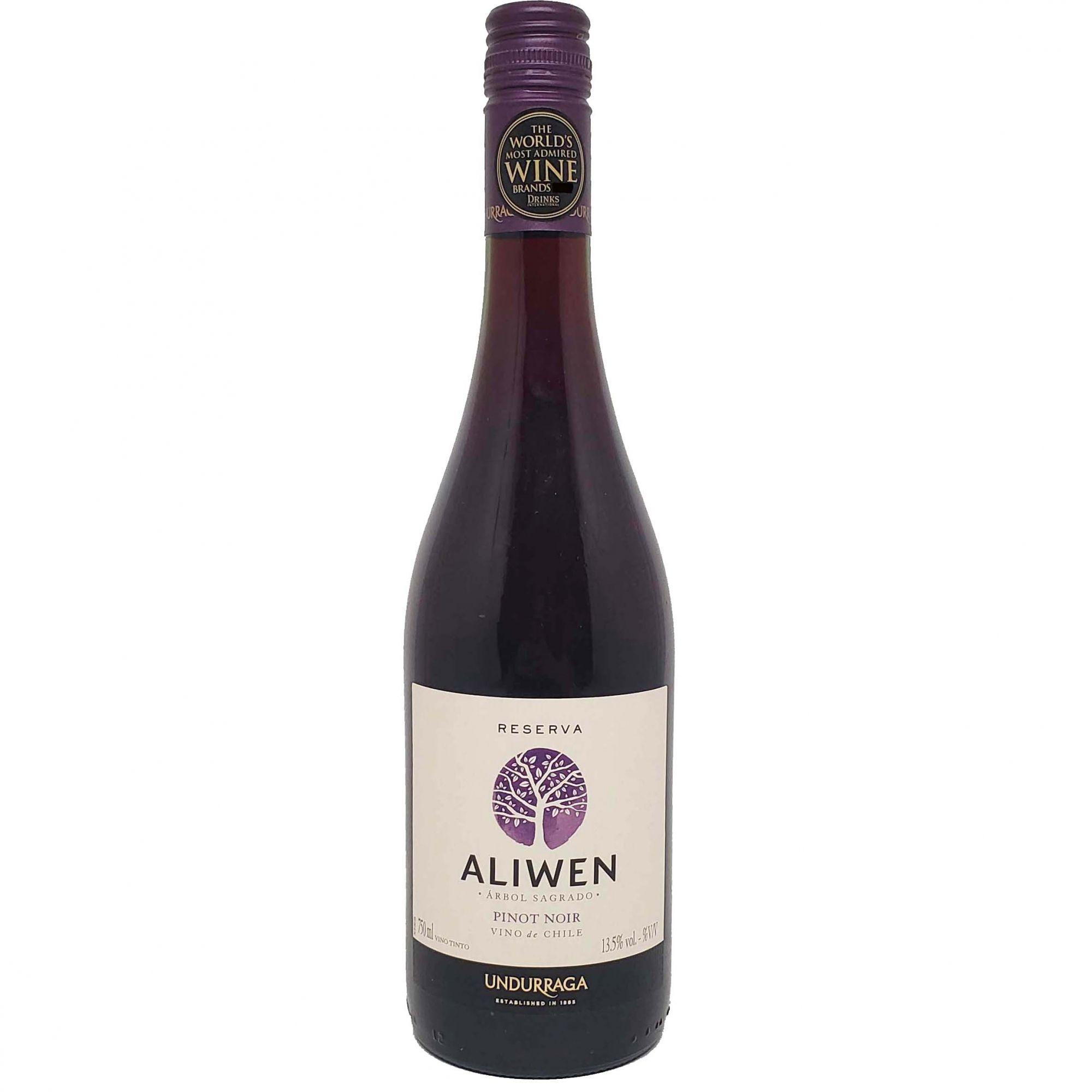 Vinho Tinto Aliwen Reserva Pinot Noir Undurraga - 750ml -