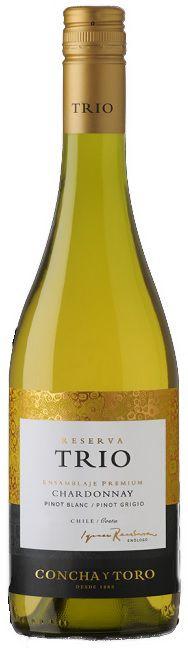 Vinho Trio Reserva Chardonnay - Pinot Blanc / Pinot Grigio - 750ml -
