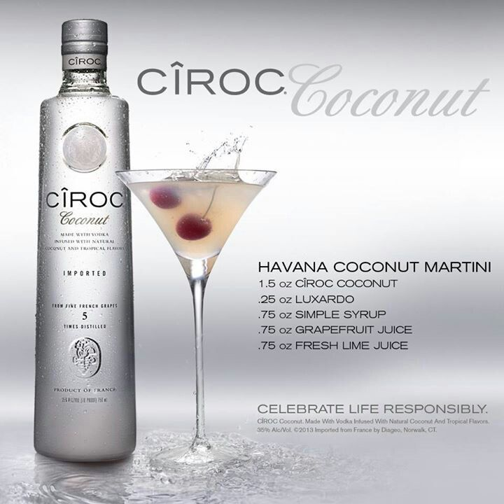 Vodka Ciroc Coconut 750 ml