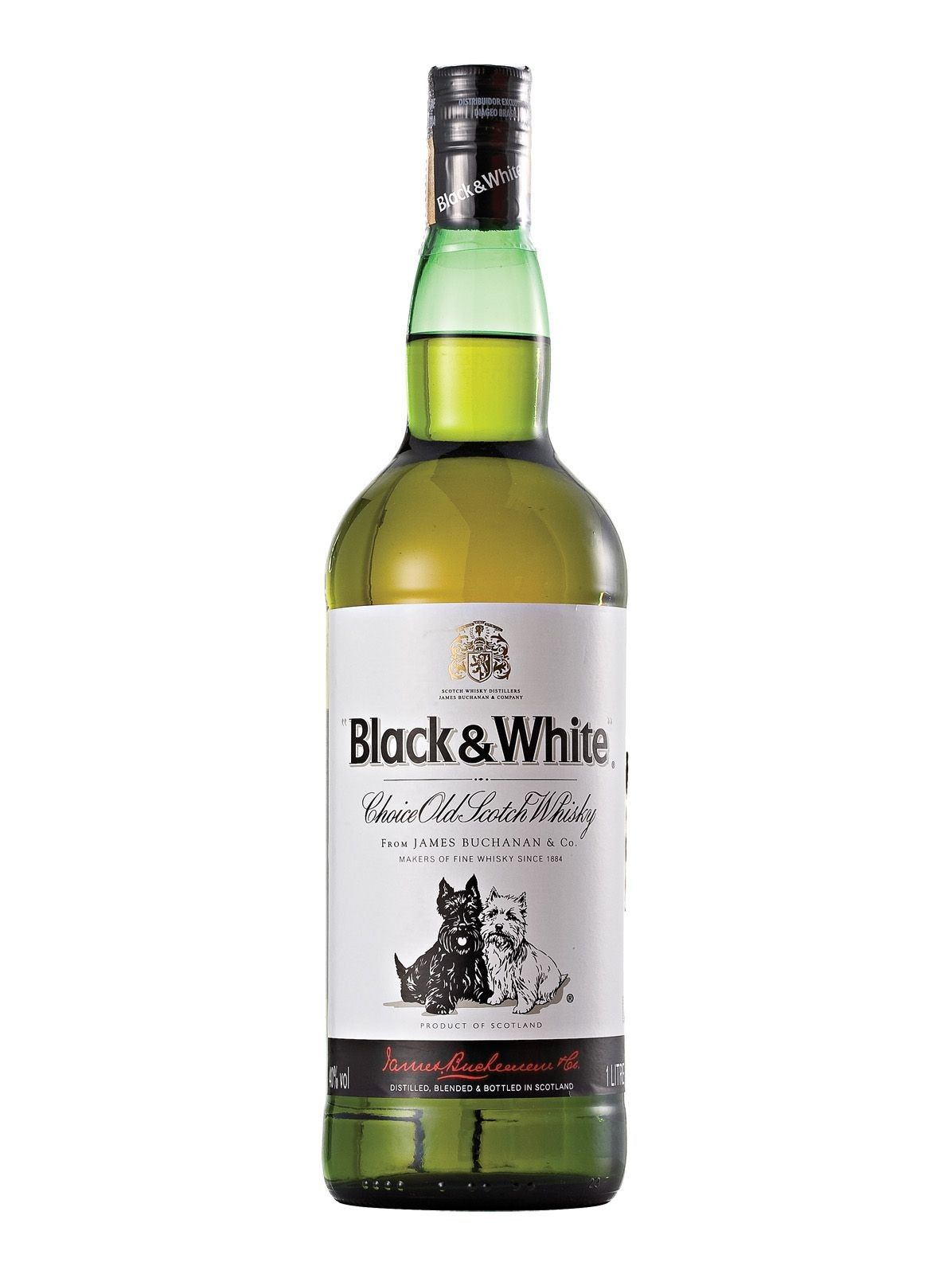 Whisky Escocês Black & White - 1L -