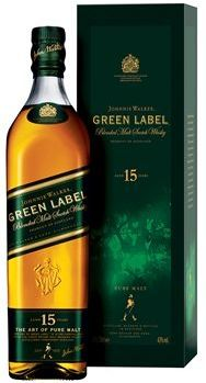 Whisky Johnnie Walker Green Label 15 anos - 750ml -