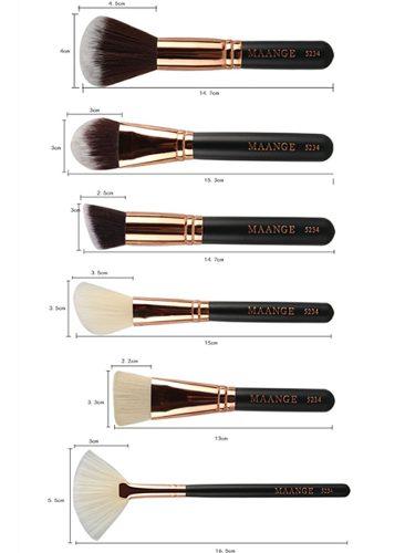 Kit 15 Pincéis De Maquiagem Kabuki E Maange Profissional