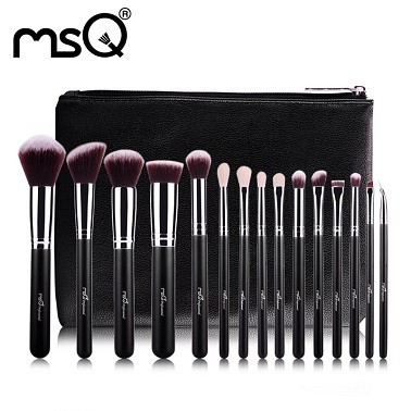 Kit 15 Pincéis de Maquiagem Profissionais MSQ