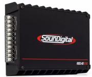 Módulo Amplificador SounDigital SD800.4D EvoBlack 800WRMS 2 Ohms 4 CANAIS