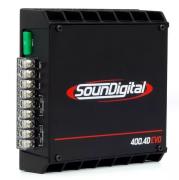 Módulo Amplificador Soundigital SD400.4D Evoblack 400Wrms 2ohms 4 canais