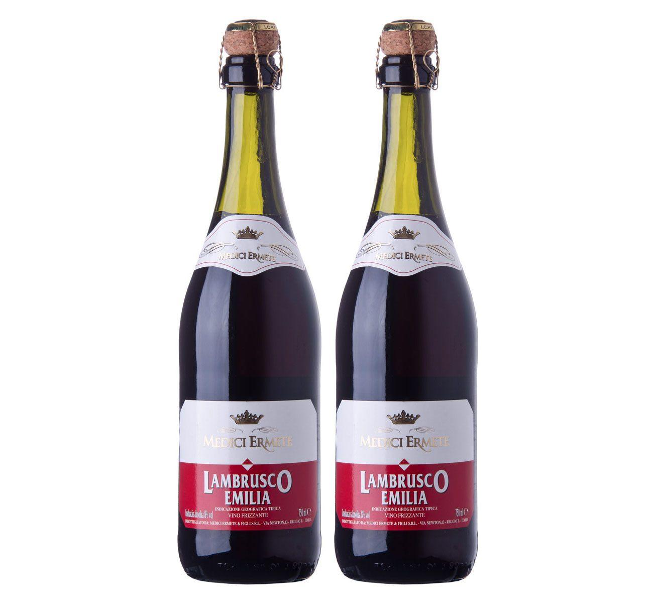Kit com 2 Garrafas Lambrusco Rosso Dolce Dell'Emilia
