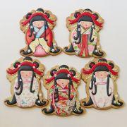 Curso Biscoitos Decorados: Pintura Estilo Pastel Seco Kokeshi