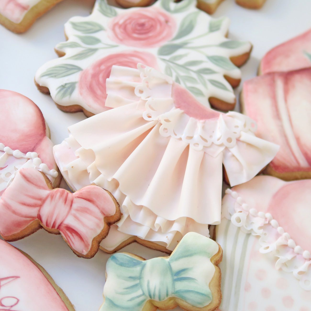Curso Biscoitos Decorados: Chá de Bebê Pastel Seco Iniciante