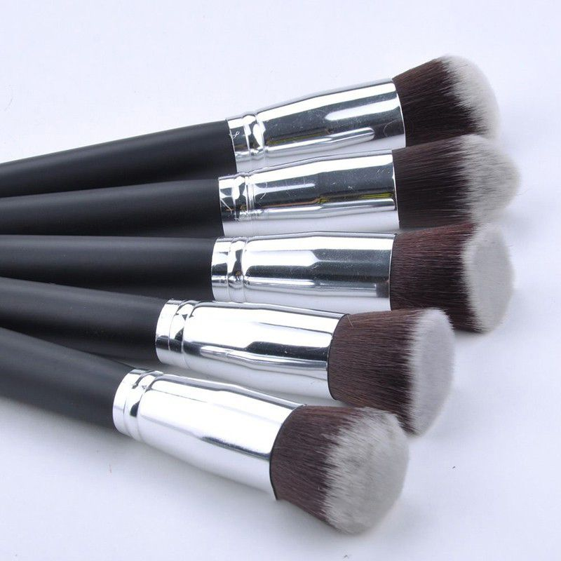 Kit 10 Pincéis Kabuki para Maquiagem