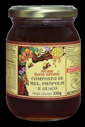 Mel com Própolis e Guaco Pote 330g