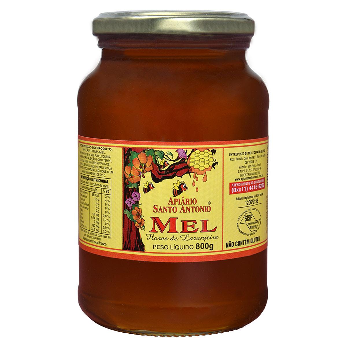 Mel de Flor de Laranjeira em Pote 800g