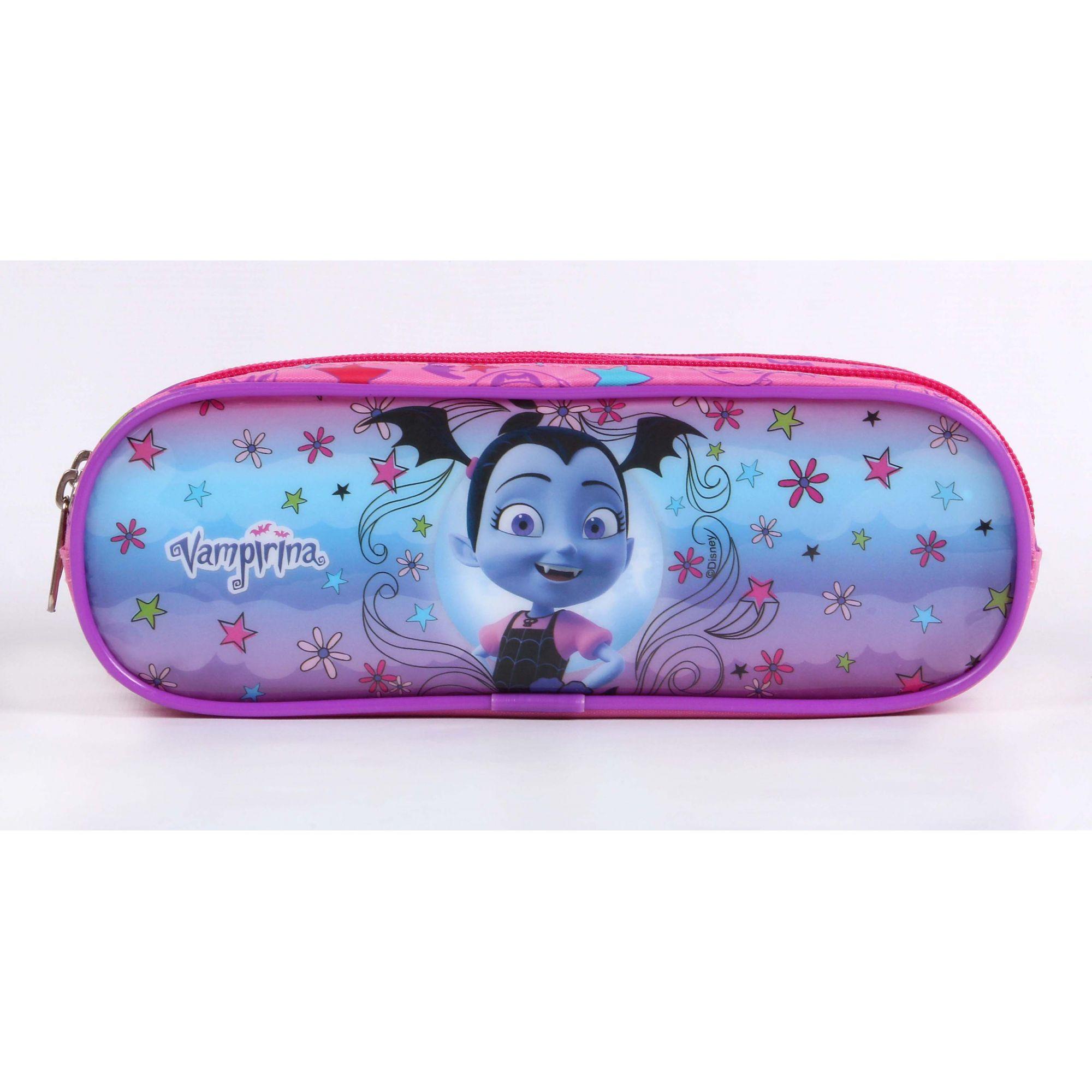 Estojo Soft Disney Vampirina 3 Divisórias Dermiwil