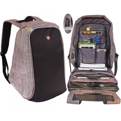Mochila para Notebook  Anti Furto Swissland