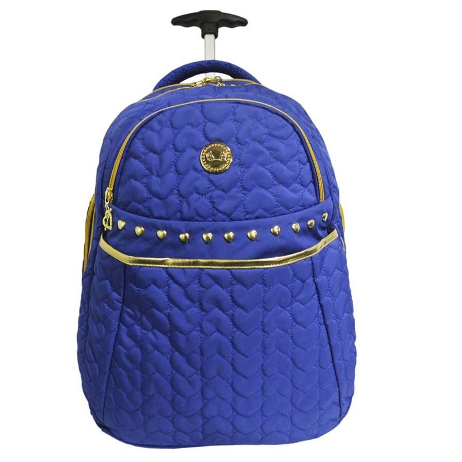 Mochila de Rodinha Sexy Machine Azul