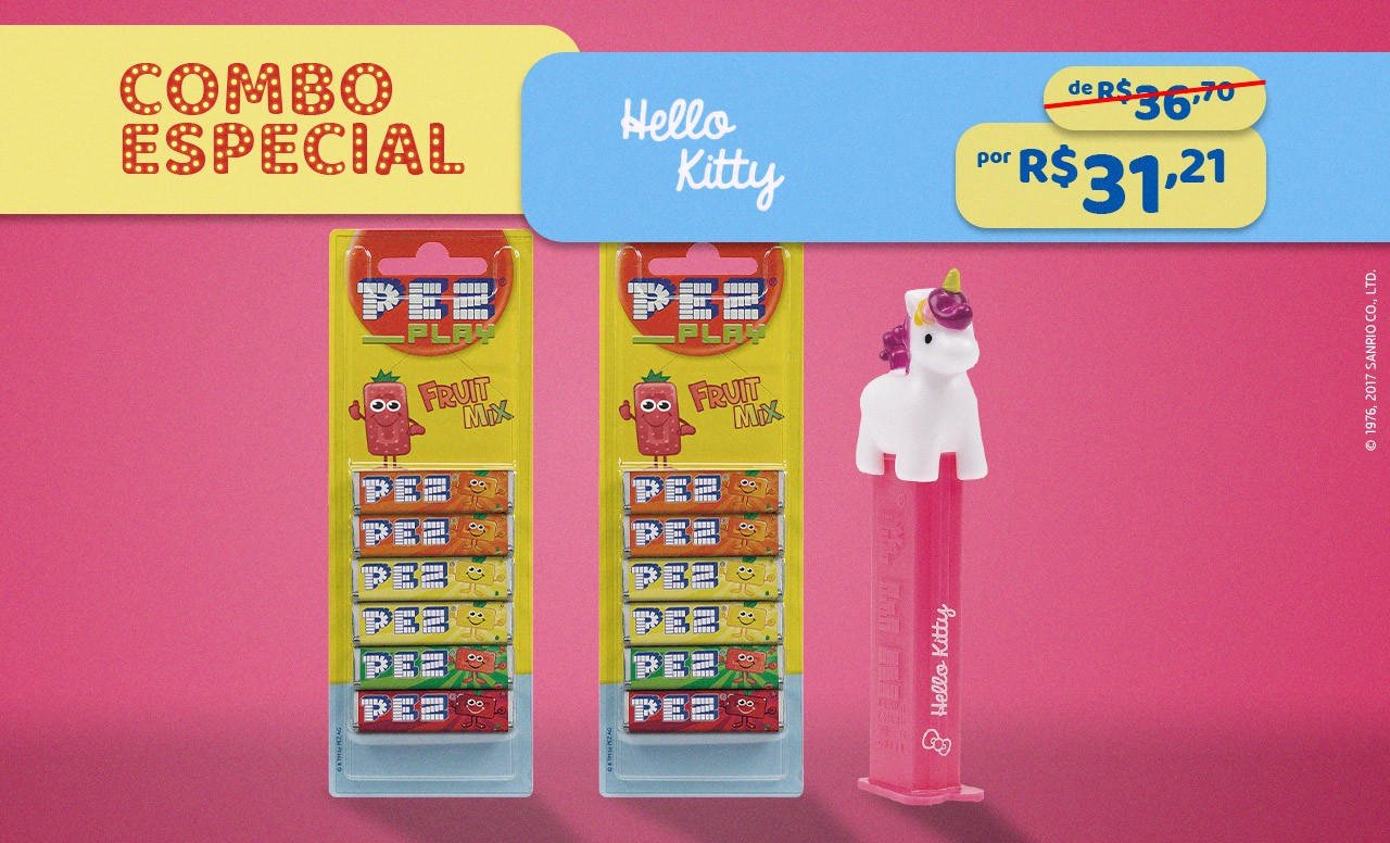Kit Especial Hello Kitty Unicórnio + Refil