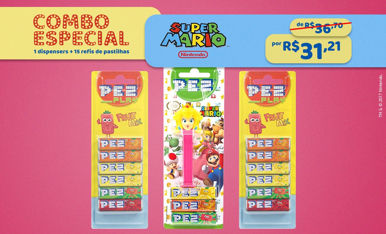 Kit Especial Princesa Peach + Refil