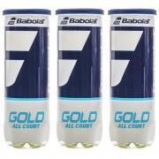 Bola De Tênis Babolat Gold All Court Pack Com 03 Tubos