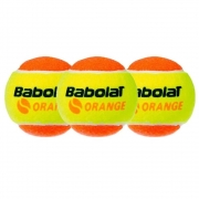 Bola De Tênis Babolat Laranja Stage 2 Com 03 Unidades