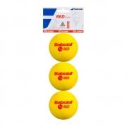 Bola de Tênis Babolat Red Foam Stage 3 Com 03 Unidades